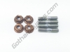 Ducati Cylinder Head Exhaust Manifold Header Special Stud Bolts Screws & Copper Nuts 067050815