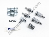 Chrome Plated Brass Metal Gas Tank Fuel Pump Quick Release Disconnect Set: BMW HP2 Enduro, HP2 Megamoto CR1150GSA