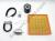 Ducati Full Service Kit - Timing Belts, Spark Plugs, Fuel/Oil Filters: 800SS