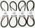 Ducati EXACTFIT Timing Belts: 848/1098/1198, StreetFighter, Multistrada 950/1200, Diavel, Monster 821/1200, Hypermotard 821/939, 2017 SuperSport